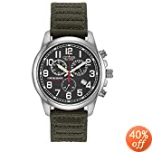 Citizen Men&#39;s AT0200-05E Eco-Drive Chronograph Canvas Watch