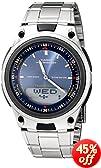 Casio Men's AW80D-2AV Sports Chronograph Alarm 10-Year Battery Databank Watch