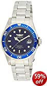 Invicta Pro Diver Men's Quartz Watch with Blue Dial  Analogue display on Silver Stainless Steel Bracelet 9204