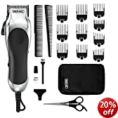 Wahl Chrome Pro Mains Hair Clipper Set & Instructional DVD 79524-800