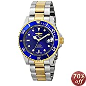 """Invicta Men's 8928OB """"Pro Diver"""" 23k Gold Plating and Stainless Steel Two-Tone Automatic Watch"""