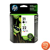 Original HP 21/22 Ink Cartridges Combo-Pack in Retail Packaging