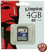 Kingston 4 GB Class 4 SDHC Flash Memory Card SD4/4GB