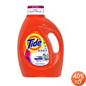 Tide HE 2x Concentrated Liquid Detergent with Bleach Alternative, Original Scent with Actilift, 100-Ounce Bottles (Pack of 4)