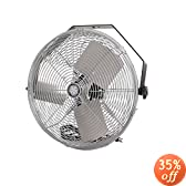 TPI Corporation U18-TE Industrial Workstation Fan, Mountable, Single Phase, 18&quot; Diameter, 120 Volt