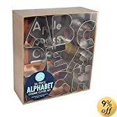 Alphabet Cookie Cutters Tinplate Set of 26