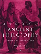 History of Ancient Philosophy by Karsten…