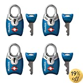 Master Lock 4689Q TSA Accepted Padlocks with Keys 4-Pack (Colors May Vary)