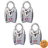 Master Lock 4689Q TSA Accepted Padlocks with Keys 4-Pack (Colors May Vary)