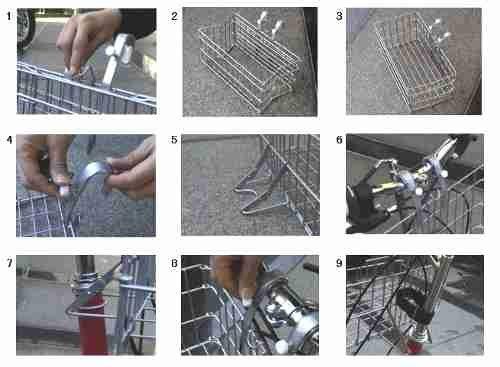 自転車の 自転車 前かご 取り付け方 : 取り付け方