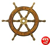 "12"" Wood Ship Wheel - Pirate Shipwheel - Nautical Decor"