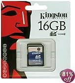 Kingston 16 GB Class 4 SDHC Flash Memory Card SD4/16GB
