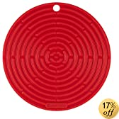 """Le Creuset Silicone 8"""" Round Cool Tool, Cherry"""