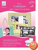 """Bulk Buy: June Tailor Colorfast Sew In Inkjet Fabric Sheets White 8 1/2""""X11"""" 50/Pkg Bulk JT950 (50-Pack)"""