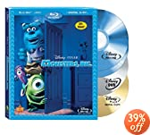 Monsters, Inc. (Four-Disc Blu-ray/DVD Combo + Digital Copy) [Blu-ray]: Billy Crystal, John Goodman, Bonnie Hunt