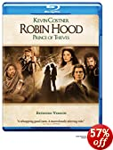 Robin Hood: Prince of Thieves (Extended Version) [Blu-ray]: Kevin Costner, Morgan Freeman, Alan Rickman, Christian Slater, Mary Elizabeth Mastrantonio, Kevin Reynolds