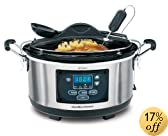 Hamilton Beach 33967 Set 'n Forget 6-Quart Programmable Slow Cooker, Silver