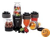 MaxiMatic EPB-1800 Elite Cuisine 300-Watt 17-Piece Personal Drink Blender, Black