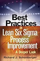 Best Practices in Lean Six Sigma Process…