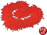 """Deluxe Large Red 72"""" Costume Accessory Feather Boa"""