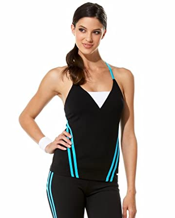 Bebe Sport Mesh Back Tank Top