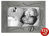Wavy Words For Dad . . . Pewter Frame By Malden - 4x6