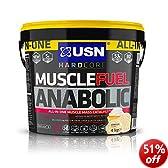 USN Muscle Fuel Anabolic Lean Muscle Gain Shake Powder, Vanilla - 4 kg