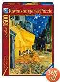 Ravensburger Van Gogh, Caf� Terrace at Night - 1500 Piece Puzzle