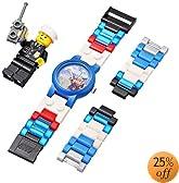 LEGO Kids' 4291329 City Policeman Watch with Link Bracelet and Figurine
