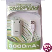 Rechargeable Controller Battery Pack for XBOX 360 - 3600mAH