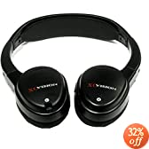 XO Vision IR620 Universal IR Wireless Foldable Headphones for In-Car Video Listening
