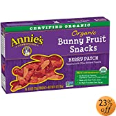 Homegrown Berry Patch Organic Bunny Fruit Snacks, 5-Count Pouches (Pack of 4): Amazon.com