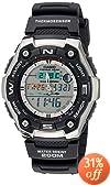 Casio Men's AQW101-1AVCF Active Dial Multi-Task Gear Sport Watch