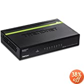TRENDnet 8-Port Unmanaged Gigabit GREENnet Desktop Metal Housing Switch, TEG-S80g