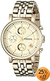 Fossil Unisex ES2197 Gold-Tone Stainless Steel Watch with Link Bracelet