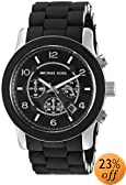 Michael Kors Men's MK8107 Oversize Black Silicone Runway Watch