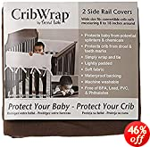 Trend Lab Fleece CribWrap Rail Covers for Crib Sides (Set of 2), Brown, Wide