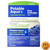 Potable Aqua Chlorine Dioxide Tablets, 20 Tablets