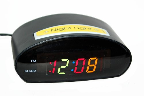 Multi Color LED Alarm Clock
