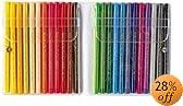 PENS36024 - Color Pen Set, Water-based, Fiber Tip, 24 Assorted Colors