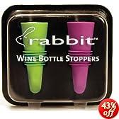 Metrokane 6119 Rabbit Wine Bottle Stoppers 2-Pack in Multi-Color (Colors Selected Randomly)
