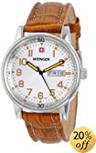 """Wenger Men's 70170 """"Commando"""" Stainless Steel Watch with Brown Leather Strap"""