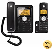 Motorola DECT 6.0 Enhanced Corded Base Phone with Cordless Handset and Digital Answering System L402C