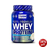 USN Whey Protein Premium Muscle Development and Recovery Shake Powder, Vanilla - 908 g