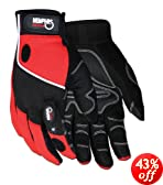 MCR Safety C924XL Grip Light Multi Purpose Glove with LED Light, XLarge