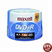 Maxell 16x Write-Once DVD+R - 50 Disc Spindle