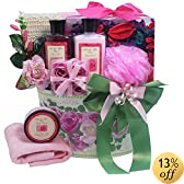 Art of Appreciation Gift Baskets Mum's English Rose Garden Spa Bath and Body Gift Set