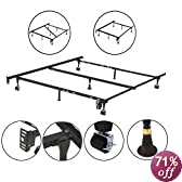 Heavy Duty Adjustable Metal Queen & Full Size Bed Frame With Center Support