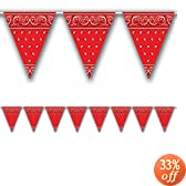 Bandana Pennant Banner Party Accessory (1 count) (1/Pkg)