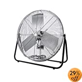 TPI Corporation F24-TE Industrial Workstation Floor Fan, Single Phase, 24&quot; Diameter, 120 Volt
